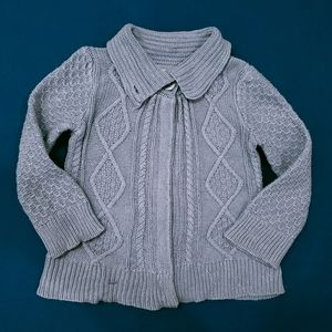 3T Sparkly Cabled Sweater | Girls Grey Cable Knit